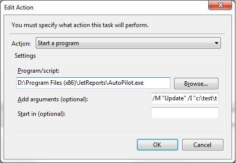 how to change folder properties with windows task scheduler