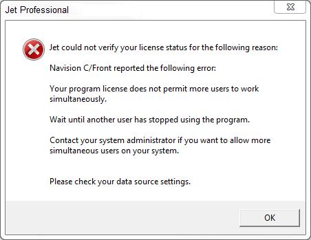 NAV Licensing Errors – Support Topics