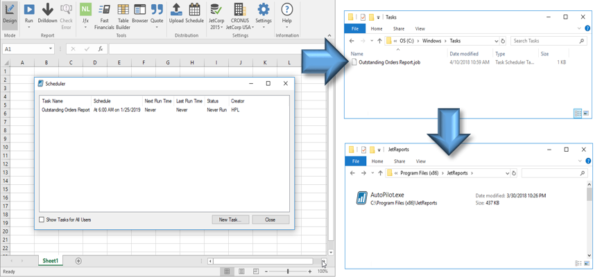 Batch Scheduling with the Jet Excel Add-in – Support Topics