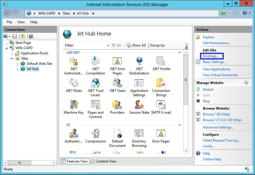 Installing and Binding an SSL Certificate in IIS 8 or 8 5 – Support