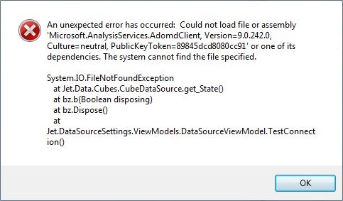 Error: An unexpected error has occurred: Could not load file